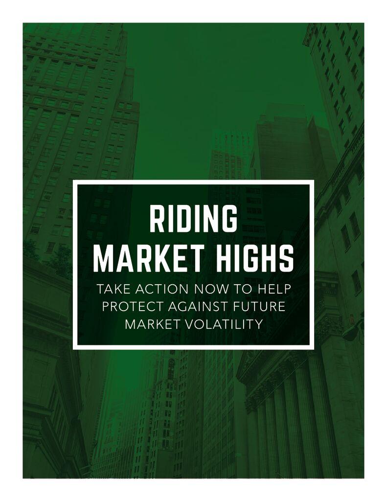 Riding Market Highs