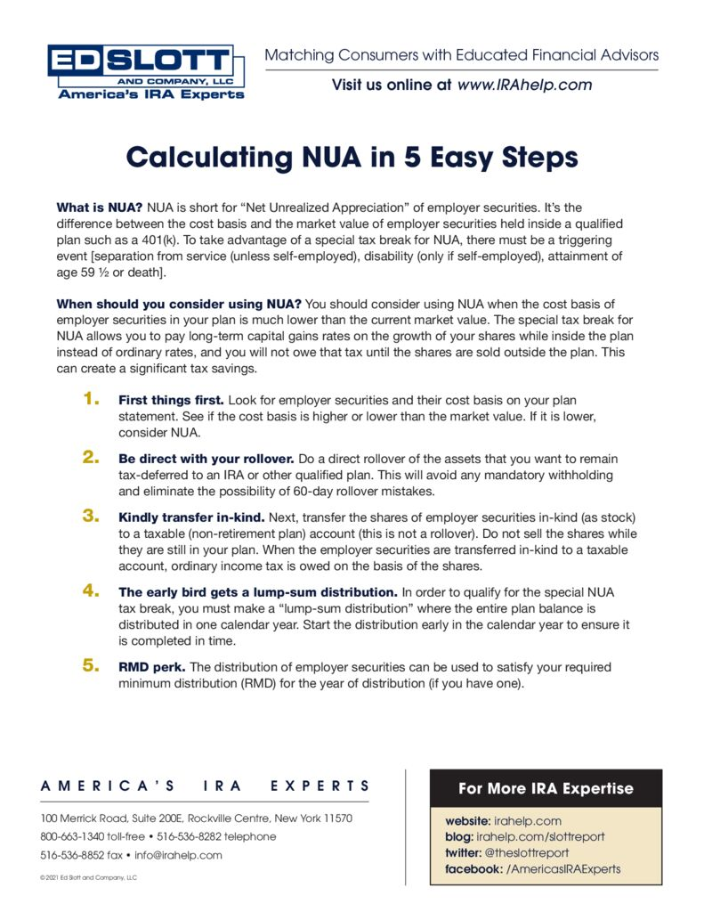 Calculating NUA