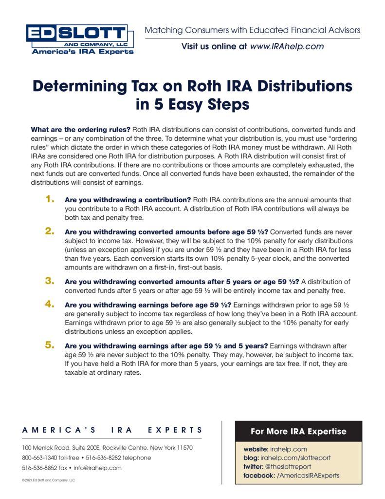 Determining Tax on Roth IRA Distributions