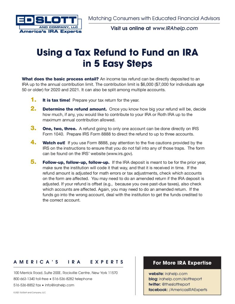 Using A Tax Refund To Fund An IRA